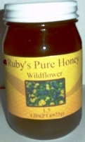 ruby's pure honey wildflower
